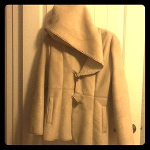 Beautiful Nude suede and fur Jacket